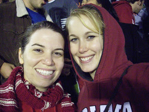 Just doing #BFF things (aka cheering our Alma Mater on in football - don't ask how they did)
