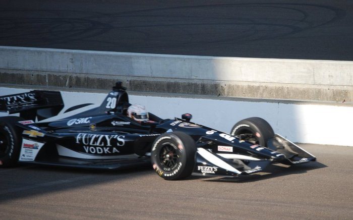 Jordan King in the #20 Fuzzy's Vodka Ed Carpenter Racing Chevy during Practice Session 1 for the 2018 IndyCar Grand Prix