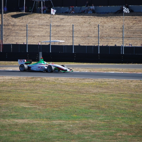 A current picture of Patricio O'Ward in an INDYCAR doesn't exist in my photo collection, so here he is at Portland!