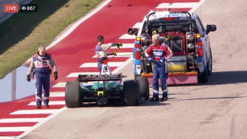 Yep that's INDYCAR Safety Director Dr. Billows deciding he's going to jump the Juncos car at COTA.